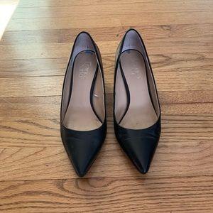Franco Sarto Pointy Black Heels